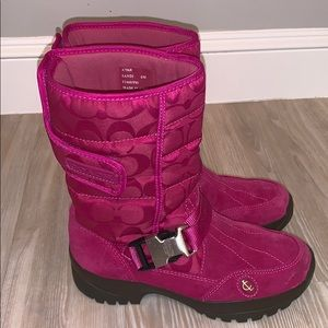 Coach Signature Sandi Snow Boots